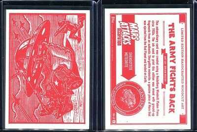 2015 Topps Mars Attacks Occupation Woodcut MA-LP6 The Army Fights Back