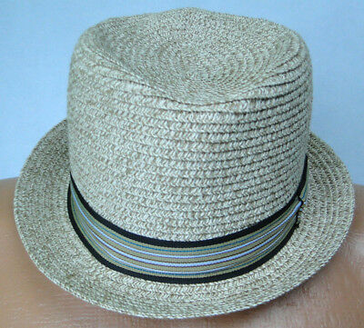 05522832b5a Straw Fedora Hat by Daniel Cremieux Collection MSRP  35 NWT COOL! - sz SM