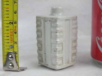Rare Miniature 19Th C Chinese Porcelain White Cong Vase