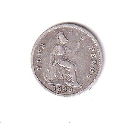 QUEEN VICTORIA SILVER GROAT [4d] DATED 1849 COLLECTIBLE GRADE