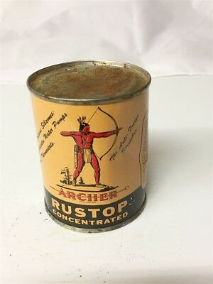 Vintage 8 Ounce Archer Rustop Concentrated Metal Can