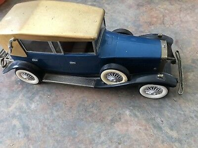 Vintage Novelty Blue & Gold Lincoln Town Car AM Transistor Radio Ad 1928