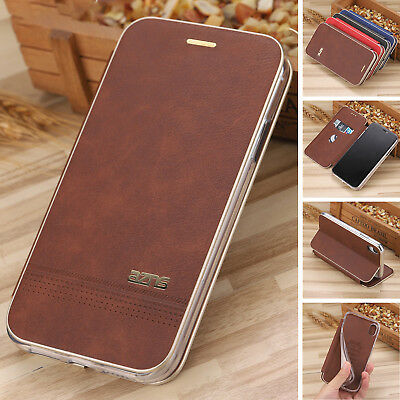 iPhone 8 7 6 Plus 6s Case Slim Magnetic Leather Flip Card Wallet Cover For Apple