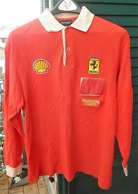 MAGLIA FERRARI SHELL AUTO MECCANICO L MARANELLO CAR POLO SHIRT ONLY EMPLOYEES b