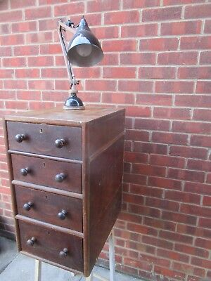 Antique 1940s chest of multi wood Drawers Apochathy cabinet Industrial salvage.