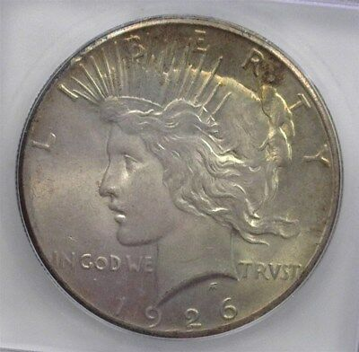 1926 Peace Silver Dollar Icg Ms65 Toned!  Valued At 400!