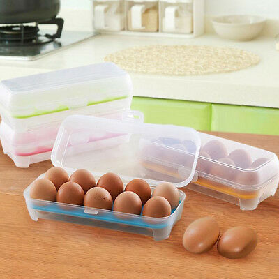 Refrigerator Egg Container Box Storage Holder Case Plastic Portable Organizer 1x