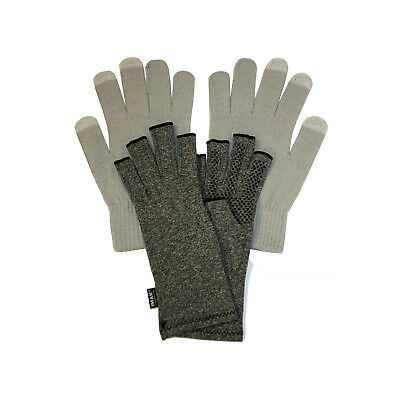 IMAK Compression Active Arthritis Gloves Large, & Grey Touchscreen Overgloves
