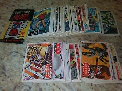 1966 TOPPS BATMAN BLACK, blue and red.large lot 100 and MIP Foldee 60s UK