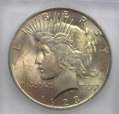 1923 Peace Silver Dollar Icg Ms64 Toned!