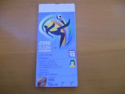 Ticket Match Football Final World Cup 2010 Match N°13 Cote D'ivoire Portugal