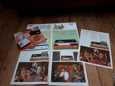 Vintage 1960's Philips Cassette & Reel To Reel Sales Brochures