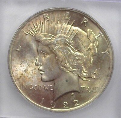 1922 Peace Silver Dollar  Icg Ms64+ Lists For $72