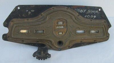 Antique Hupmobile 1928 8 Brass Dashboard, Cluster, Modified, Not Tested, Lqqk!