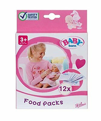 Baby Born Food Pack Of 12 Sachets Brand New In Box For Ages 3 Years And Up