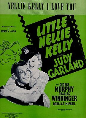 JUDY GARLAND sheet music NELLIE KELLY I LOVE YOU (1940)