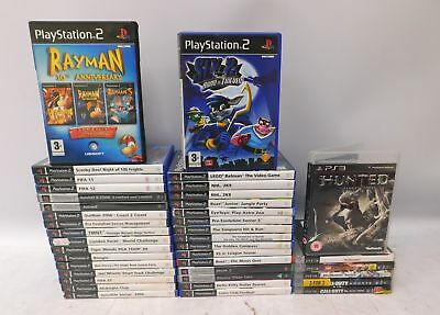 39 PlayStation 2 & 3 Games RAYMAN Sly 2 RATCHET & CLANK Juiced HUNTED  - C51