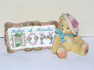 """Estate:Cherished Teddies 1997 Enesco """"Maker of Miracles"""" MOM NOT PERFECT LOOK"""