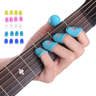 12Stk Gitarre Thumb Bass Silikon-Finger-Schutz-Plektrum Fingerpicks FINGER PICK