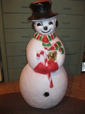Blow Mold Frosty The Snowman Red and Green Scarf Union Products