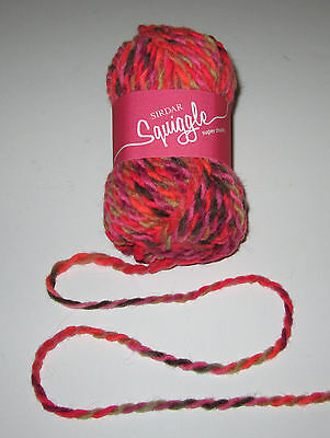 LOT of 10 balls of BUSY LIZZIE SIRDAR SQUIGGLE chunky knitting yarn #0605