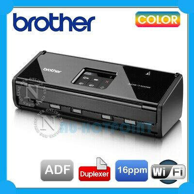 Brother ADS-1100W Compact Wi-Fi Document Scanner+Duplex+iPrint/Scan *RFB*RRP$449