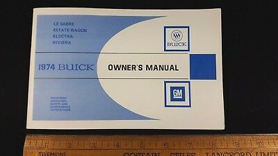 1974 BUICK Full Size - Original NOS Owners Manual -  Excellent Condition - (US)