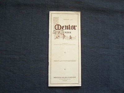 vintage 1926 Mentor Tours brochure / pamphlet, 10 European tours, travel