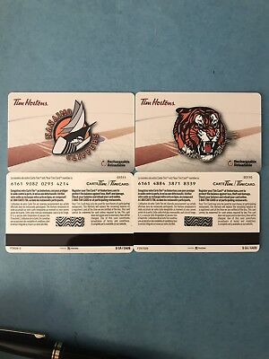 Tim Horton Gift Card - 2018-19 Medicine Hat Tigers And Nanaimo Clippers