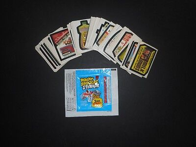 1980 Topps Wacky Packages Complete 3rd Series 3 66 Sticker Lessor Cond. Set VG-