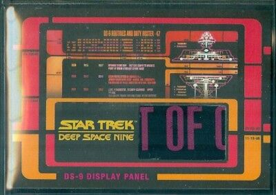 Star Trek DS9 Heroes & Villains  ( RC 1 ) Routines & Duty Roster Relic Card # 1