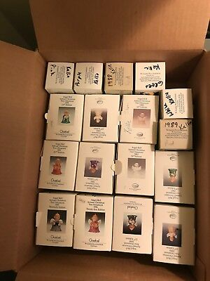 17 Goebel Angel Bell Ornaments 1988 1989 1991 1992 1993 1994 1995 1996 1997 1998