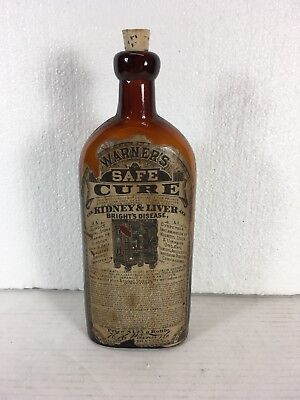 Warner's Safe Cure - For Kidney Liver- RARE Antique Medicine Bottle