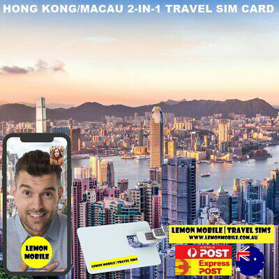 8 Days Hong Kong + Macau travel SIM Card | Unlimited data | $2.4 per day!
