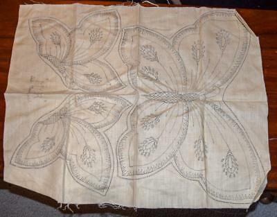 Vintage LINEN BUTTERFLY Dressing Table Set Traced/Stamped Doilies to Embroider
