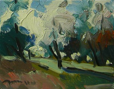JOSE TRUJILLO Modern ORIGINAL IMPRESSIONIST OIL PAINTING COLORIST ART LANDSCAPE