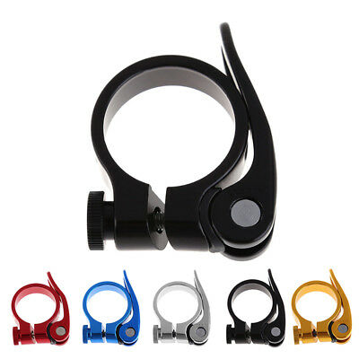 Sturdy 50g Bike Bicycle Quick Release Seat Post Clamp Binder 31.8/34.9mm