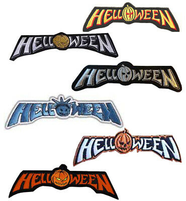 Helloween in Different Colours 7.5cm Embroidered Sew or Iron on Badge