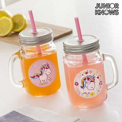 Junior Knows Unicorn Mini Glazen Weckpot Mokken (Set of 2)
