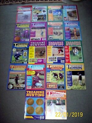 Treasure Hunting  18 off Metal Detecting Magazines 1994 - 2000 Hammered Coins