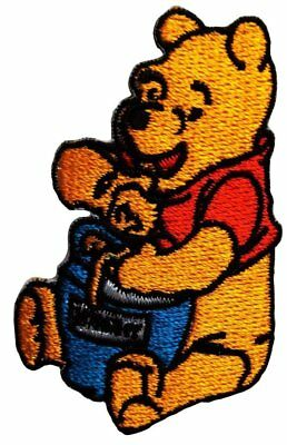 WINNIE THE POOH STAR Yellow 6.2cm x 6.2cm Patch Embroidered Sew or Iron on Badge