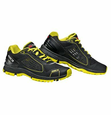 Sidi Approach Motorcycle Boots 48 Fluo Black Yellow (UK 12.5) Breathable Urban
