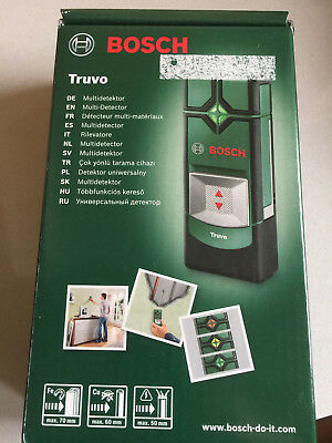 BRAND NEW Bosch Detector Truvo 3 x AAA batteries, max. detection depth 70mm