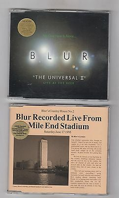 BLUR = {2 x CD SINGLES} = LIVE = THE UNIVERSAL II & LIVE FROM MILE END STADIUM