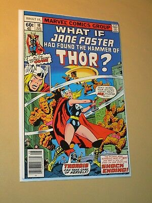 WHAT IF #10 JANE FOSTER as THORDIS the 1st FEMALE THOR 1978 Marvel High Grade