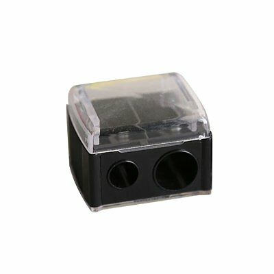Black Precision Cosmetic Pencil Sharpener for Eyebrow Lip Liner Eyeliner 2 Holes