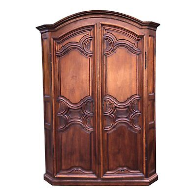 18th C French Country Armoire Corner Cabinet