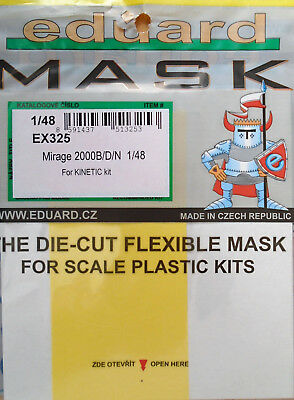 Eduard 1/48 EX325 Canopy Mask for the Kinetic Mirage 2000B/D/N kit