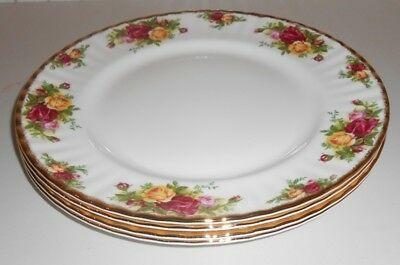 Royal Albert China Old Country Roses 4X 10.25 Ins Dinner Plates 1St Q        Tp2