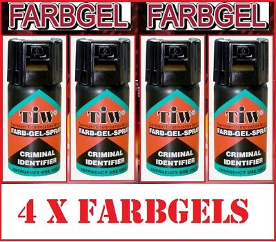 4 Yes Four Farbgel Personal Self Defence Crime Security Spray Uk Legal Farb Gel